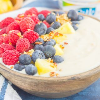 Fruity Peach Yogurt-Alternative Bowl