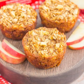 Apple Cinnamon Baked Oatmeal Cups