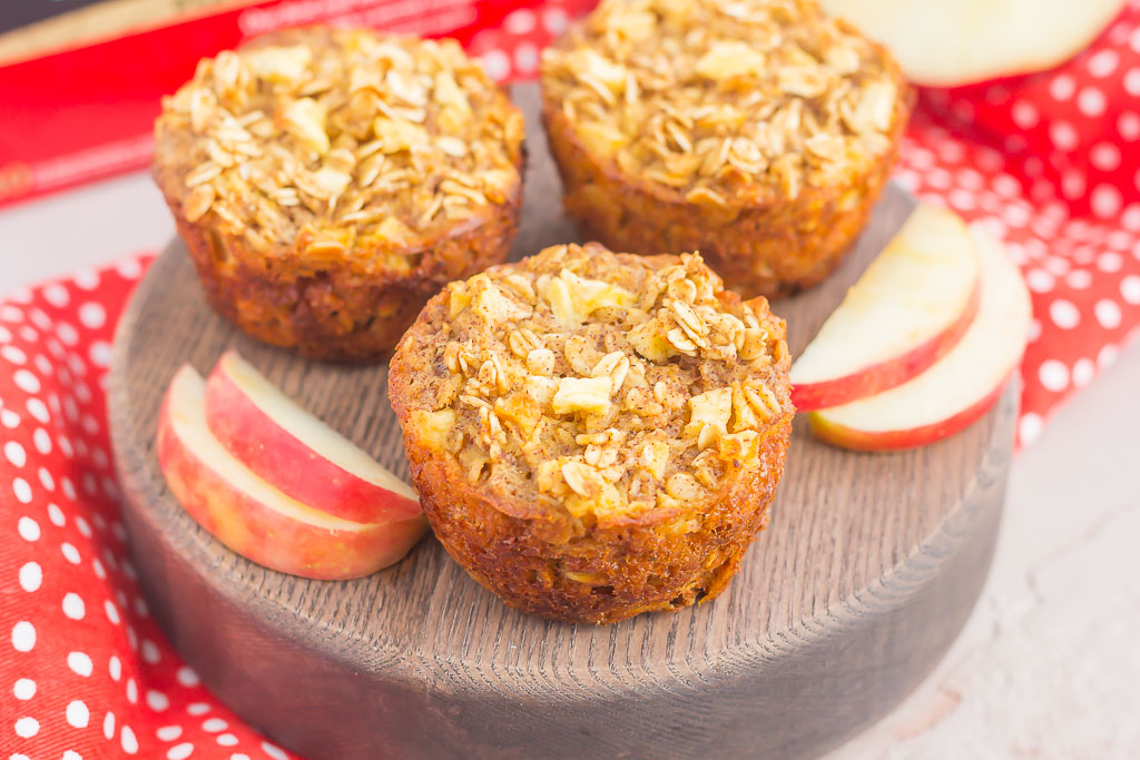 These Apple Cinnamon Baked Oatmeal Cups arethe perfect, on-go-the breakfast to enjoy any day of the week. Fresh apples, a sprinkling of cinnamon, and hearty oats make a deliciously cozy dish to enjoythroughout the season!