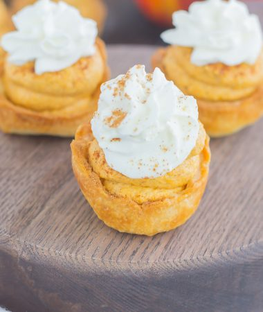These Whipped Pumpkin Pie Bites are perfectly portable, poppable, and so easy to make. With just a few ingredients and hardly any prep time, you can have your pumpkin pie in bite-sized form!