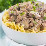 This One Pan Beef Stroganoff ispacked with crumbled ground beef, tender mushrooms, and a rich and creamy sauce. Made with just a few ingredients and ready in just 30 minutes, you can have this easy dish ready to devour in no time!