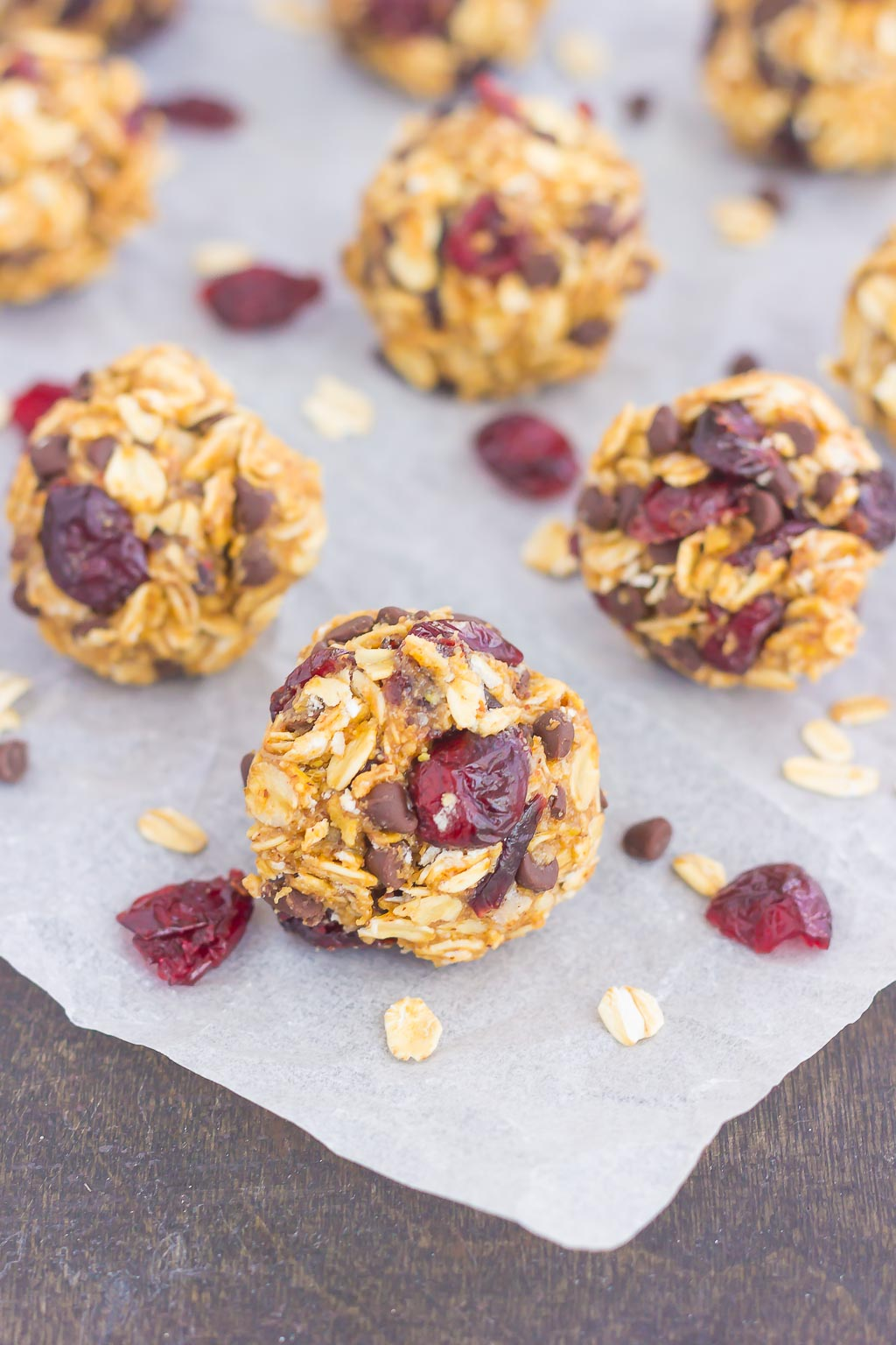 These Cherry Chocolate Chip Energy Bites are a simple, no-bake treat, filled with healthier ingredients and loaded with flavor. Perfect for a quick breakfast, snack, or even dessert, you'll be whipping up these bites all year long!