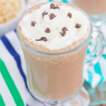 This Iced Coffee Smoothie is the perfect way to get your morning off to a good start. Packed with coffee, oats, honey, and a banana, this healthier drink takes just minutes to make and will keep you going all day long!