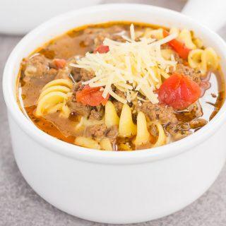 One Pot Lasagna Soup {Plus a video!}