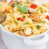 Roasted Mushroom and Tomato Pasta Salad