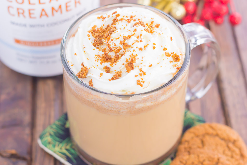 Skip the coffee shop and make your own Spiced Gingerbread Latte to celebrate the the holidays. Filled with cozy spices, lots of flavor, and ready in less than 10 minutes, you can enjoy this warm and festive drink all season long!