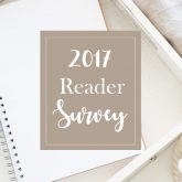 Getting to know you! {2017 Reader Survey}