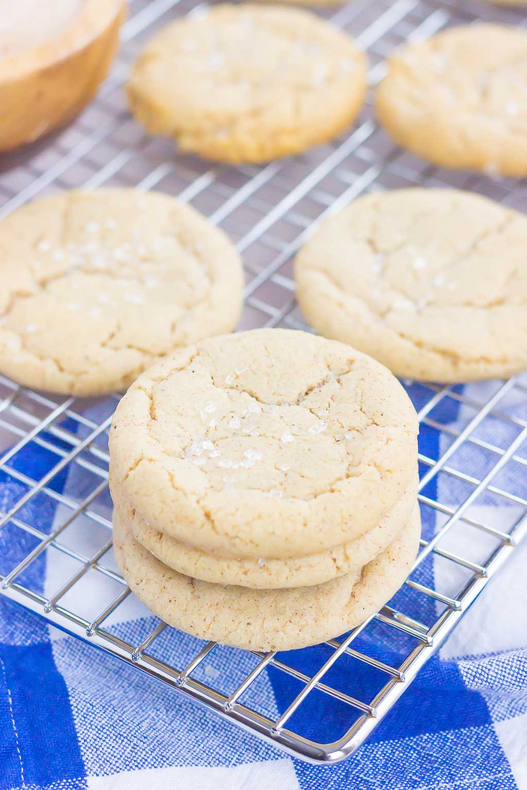 These Chai Sugar Cookies are soft, chewy, and packed with cozy spices. Filled with warm flavors and easy to make, this simple cookie will quickly become your new favorite sweet treat!