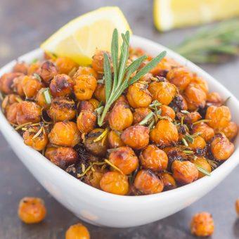 Roasted Lemon Rosemary Chickpeas
