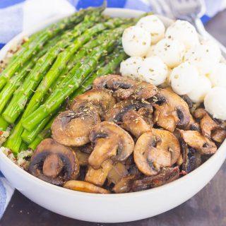 Asparagus and Mushroom Quinoa Bowl