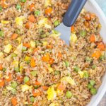Fast, easy, and full of flavor this Easy Fried Rice tastes like your favorite Chinese take-out!