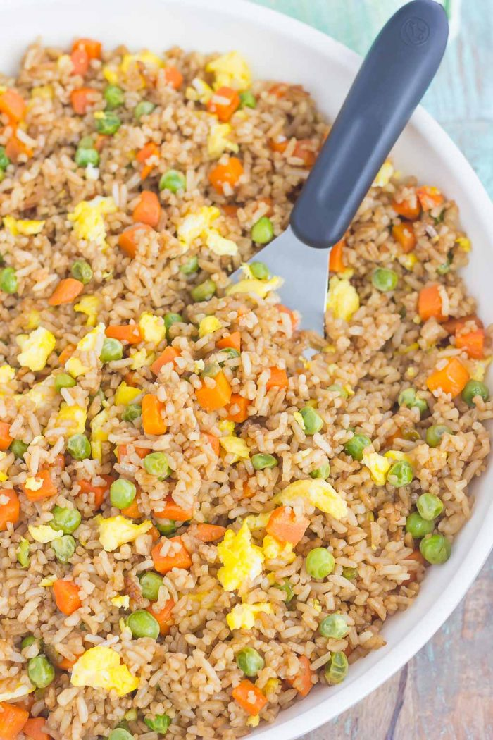 Easy Fried Rice {Plus a Video!}
