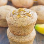 These Healthier Banana Honey Muffins are a simple, one-bowl breakfast or snack. Packed with sweet bananas and a touch of honey, these muffins bake up soft, moist, and on the healthier side!