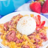 Strawberry Cinnamon Dump Cake