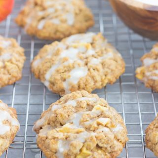 Glazed Apple Oatmeal Cookies