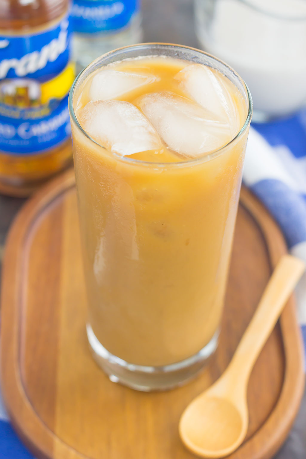 This Salted Caramel Almond Iced Coffee is an easy, three ingredient drink to beat the summer heat. Bold coffee is combined with almond milk and a hint of salted caramel syrup to create a smooth and decadent flavor. Ready in less than 5 minutes and perfect for just about any day, you'll be sipping on this sweet treat all year long!