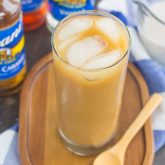 Salted Caramel Almond Iced Coffee
