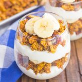 Pumpkin Banana Yogurt Parfait