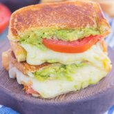 Tomato, Avocado and Mozzarella Grilled Cheese