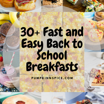 Back-to-school time is officially here and this recipe collection features over 30 fast and easy breakfasts to get you and the kids going in the morning. Whether you're looking for eggs, muffins, breakfast sandwiches, pancakes, or something a little healthier, this roundup is perfect for just about anyone needing a simple and delicious meal!