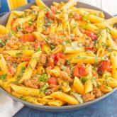 Tomato Basil Pasta with Italian Sausage