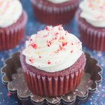 christmas cupcakes with peppermint frosting