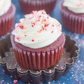 Peppermint Red Velvet Cupcakes