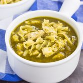 Pesto Chicken Noodle Soup