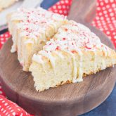 White Chocolate Peppermint Scones