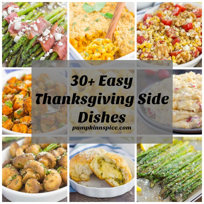 Thanksgiving is almost here and if you're looking for some new recipe inspiration, I've got you covered. This recipe collection features over 30 fast and easy side dishes, from mashed potatoes, to veggies, mac 'n cheese, and breads. If you're looking for a simple, yet delicious dish, you've come to the right place!