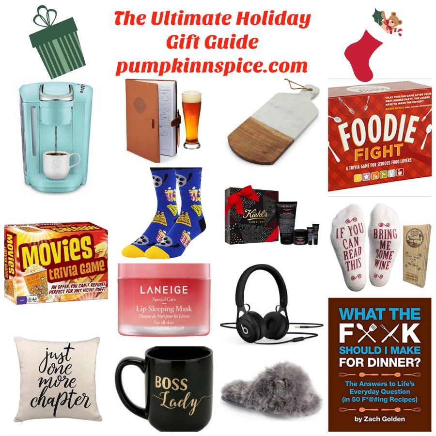 Shopping can be a daunting task, no matter the time of year or person who you're on the hunt for, so I'm here to make it a little easier on you! The Ultimate Holiday Gift Guide is perfect for him, her, stocking stuffers, foodie lover, book lover, and more!