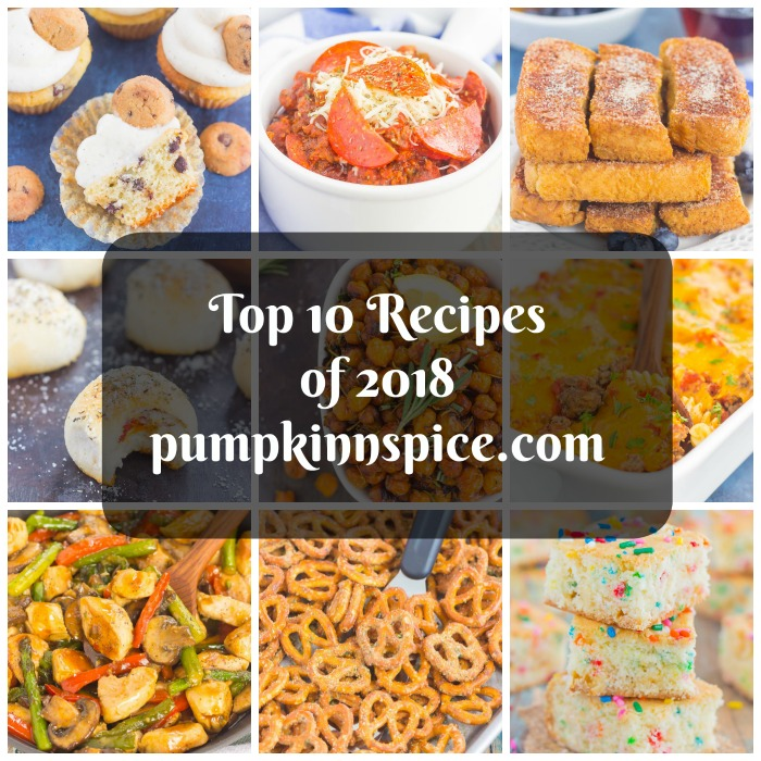Top 10 Recipes of 2018