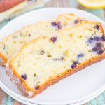 This Lemon Blueberry Bread is perfectly sweet, moist, and simple to make. An easy lemon glaze adds a touch of sweetness that makes this bread perfect for breakfast or dessert!