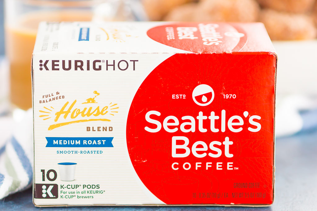 a box of Seattle's Best coffee k-cup pods