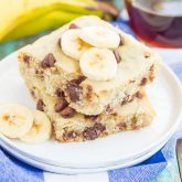 Banana Chocolate Chip Sheet Pan Pancakes {Plus a video!}