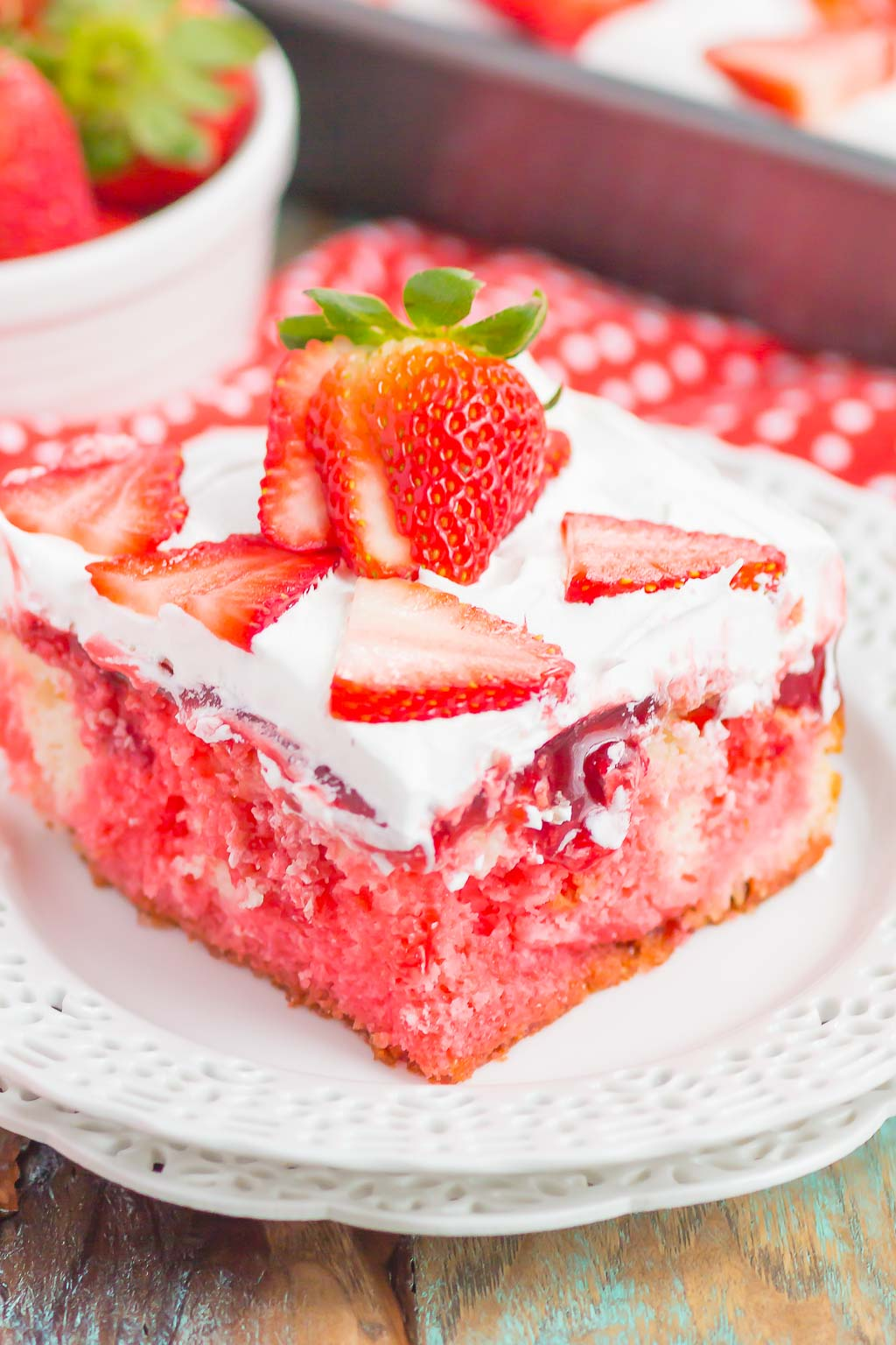 Easy Strawberry Poke Cake With Jello Pumpkin N Spice