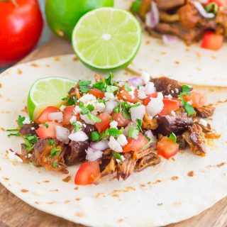 Honey Barbecue Pork Tacos are fast, fresh, and loaded with flavor. Made with just a few ingredients and ready in no time, this is the perfect meal to enjoy when you don't want to spend hours in the kitchen!