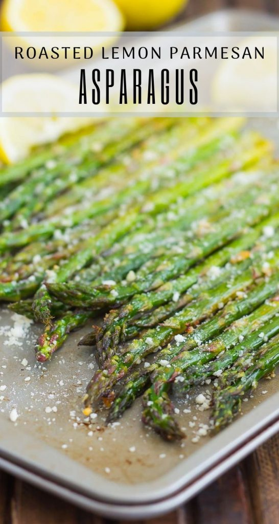pin of asparagus in pan