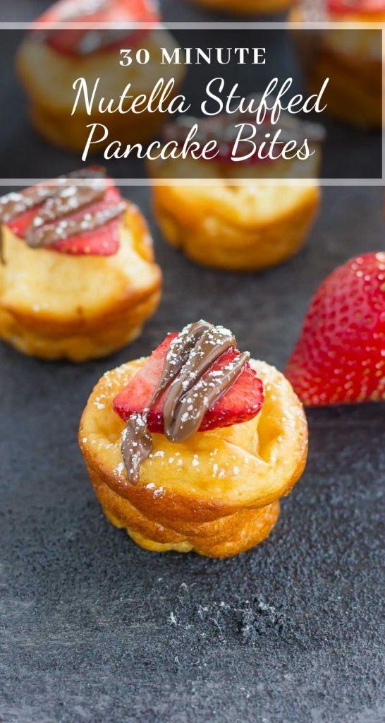 pin for nutella pancake bites
