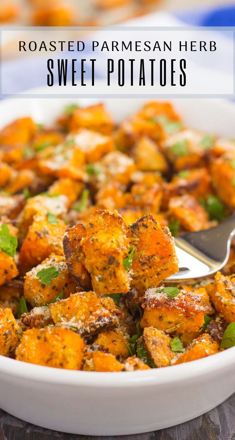 Savory Sweet Potatoes Parmesan Herb Pumpkin N Spice