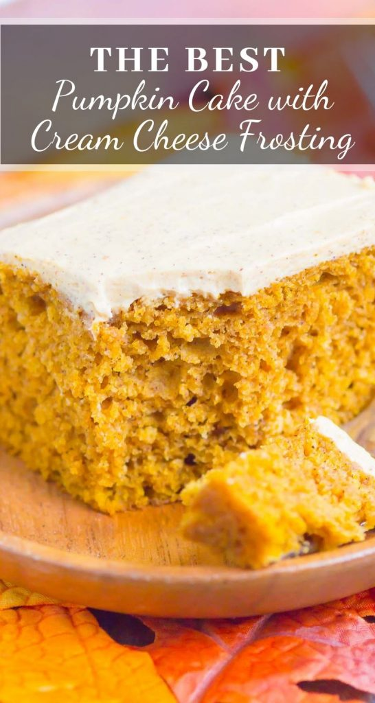 pin for pumpkin spice cake