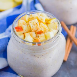 Apple Pie Overnight Oats are a simple, make-ahead breakfast for busy mornings. With just five minutes of prep time and no oven required, this hearty dish is filled with cozy flavors and perfect to keep you going all morning long!