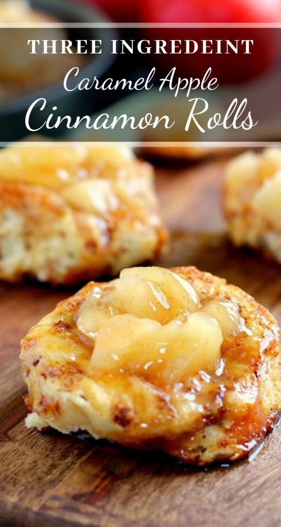 These Easy Caramel Apple Cinnamon Rolls are soft, fluffy, and bursting with fall flavors! They're loaded with a rich caramel sauce and apple slices, making a great breakfast or dessert. By using a pre-made dough and apple pie filling, these apple cinnamon rolls are ready in no time! #caramel #apple #caramelapple #caramelappledessert #cinnamonrolls #easycinnamonrolls #fallbreakfast #fallbreakfastideas #falldessertrecipes #falldessert #applebreakfast #appledessert #breakfast #dessert #fallrecipes