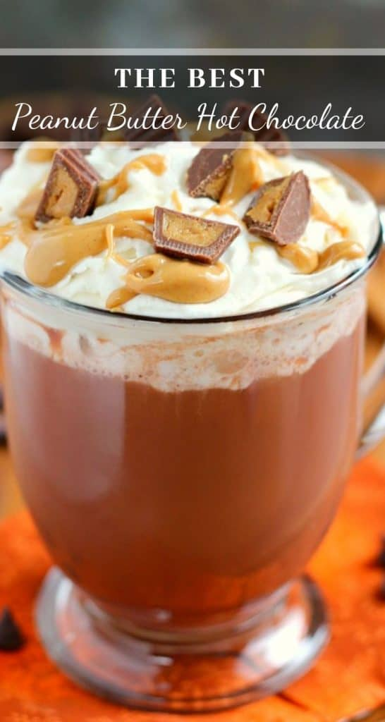 pin for peanut butter hot chocolate
