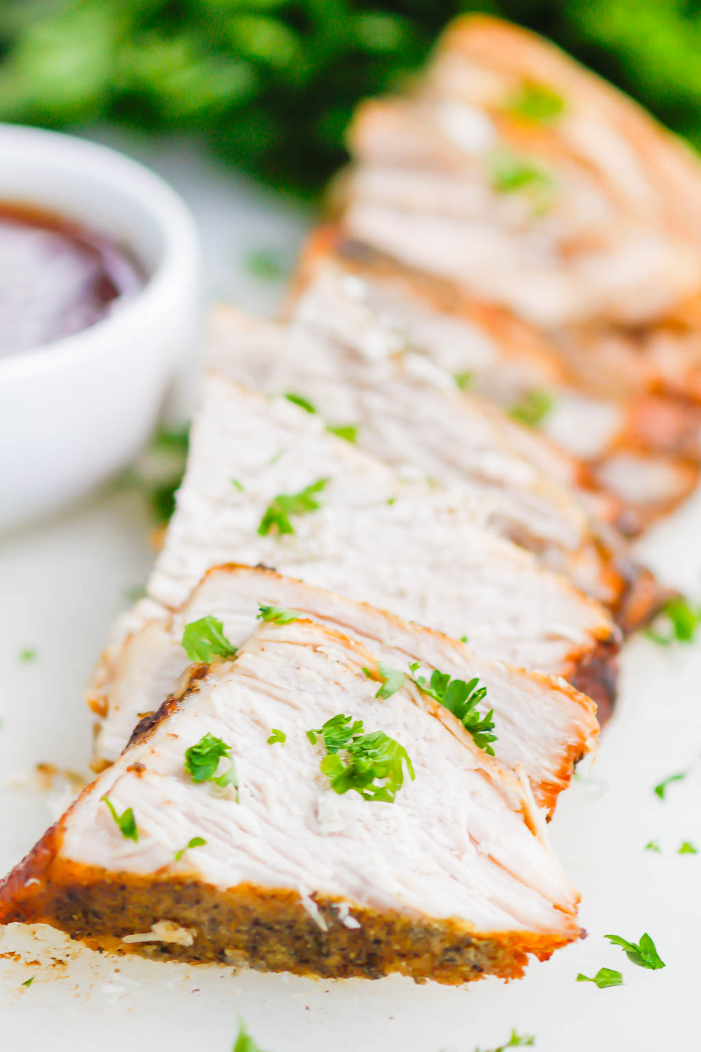 Slow Cooker Honey Balsamic Pork Loin is a simple dish that's loaded with cozy flavors. Made with just a few ingredients, this pork comes out tender, juicy, and drizzled with the most delicious honey balsamic glaze! #pork #porkrecipe #porkloin #porkloinrecipe #porkroast #slowcookerporkroast #slowcookerpork #honeybalsamic #honeybalsamicpork #balsamicpork #fallrecipes #falldinners #easydinners
