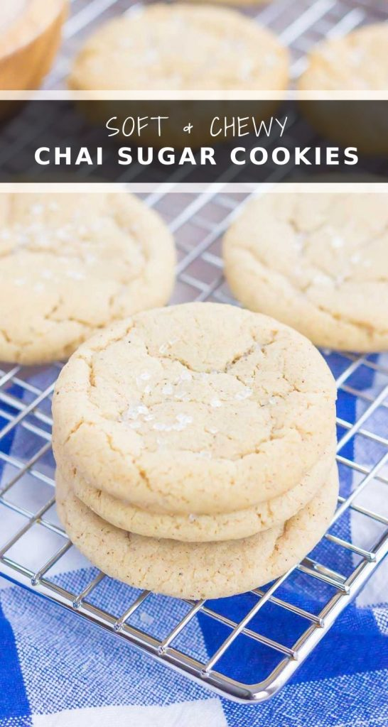 pin for chai spiced sugar cookies