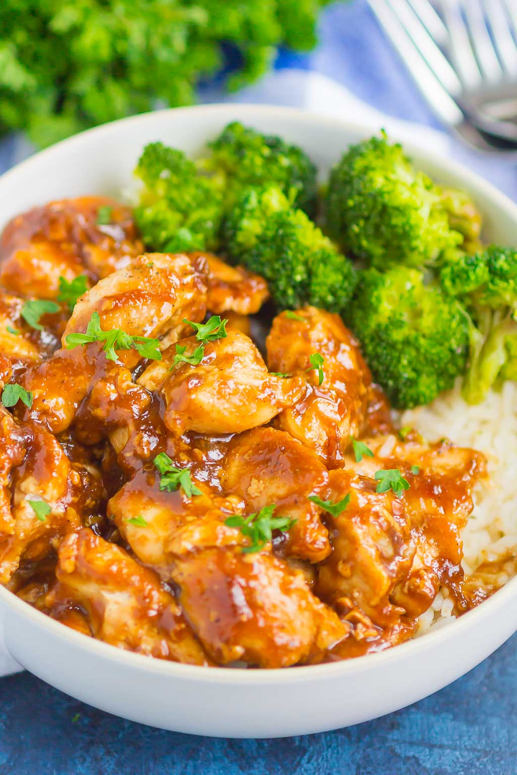 Easy Teriyaki Chicken is a simple, one pan dish that's perfect for busy weeknights. Sweet garlic chicken is coated with an easy teriyaki sauce and tastes even better than the takeout kind!