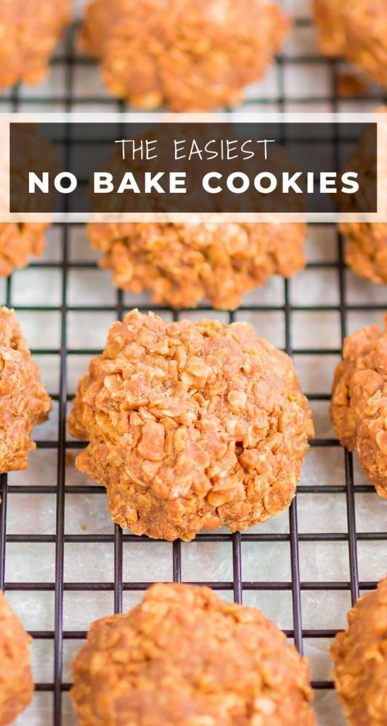 Chocolate No Bake Cookies are the easiest, most delicious cookies. With no oven needed and just a few ingredients, these cookies are soft, chewy and ready in no time!