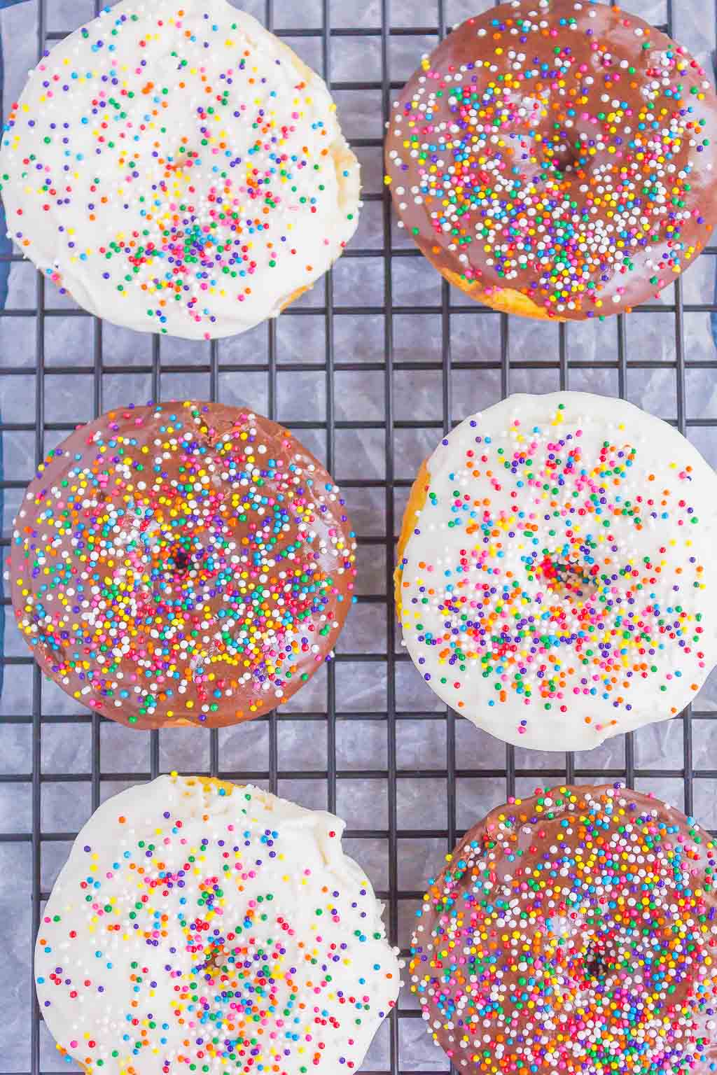 Cake Mix Donuts are light, fluffy, and simple to make. With just two ingredients, you can have these baked donuts ready to serve for a fun breakfast or dessert!