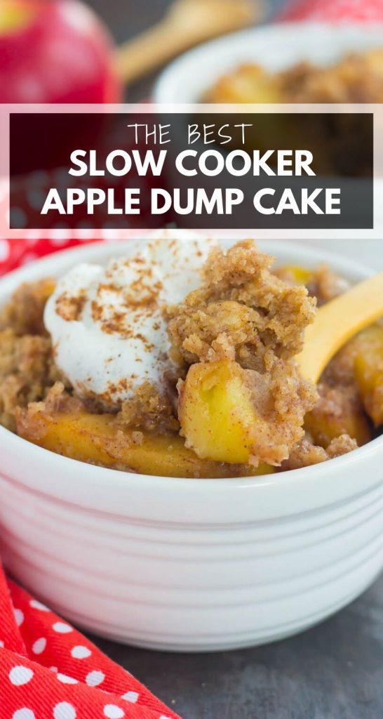 Slow Cooker Apple Cinnamon Dump Cake
